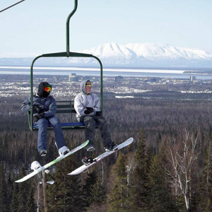 Hilltop ski area in Anchorage
