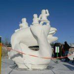 Fur Rondy Snow Sculpture